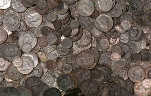 SILVER COINS OLD  COLLECTION SILVER DOLLAR BULLION US 90% ESTATE LOT