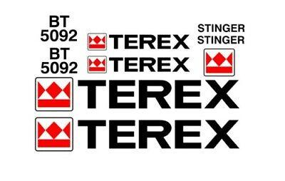 Terex Bt5092 Boom Truck Crane Vinyl Decals Sticker Graphics Kit Bt 5092 Stinger