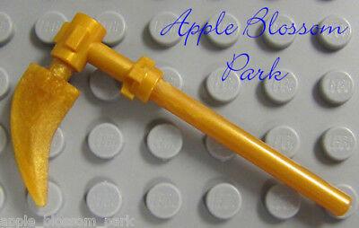 NEW Lego Ninjago GOLD SCYTHE - NInja Cole Minifig Spinjitzu Knife Blade Weapon - Gold Ninja