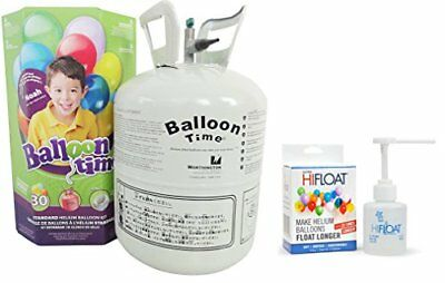 Balloon Time Disposable Helium Kit  8 9 Cu Ft With Ultra Hi Float   Party Balloo
