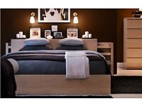 IKEA Malm Headboard/bedside tables/side-table in beech