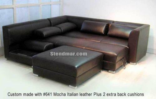 sectional en structube grey right margot dark sofa