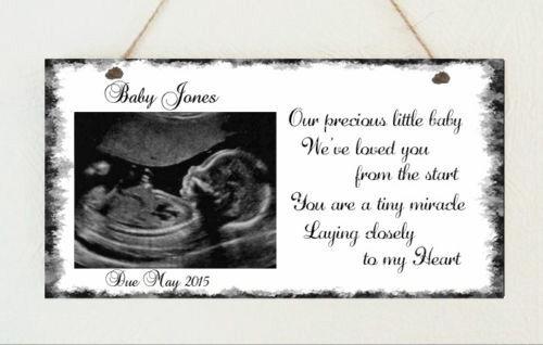 Personalised Plaque Baby Scan Mum Dad Nanny Grandad Sister A