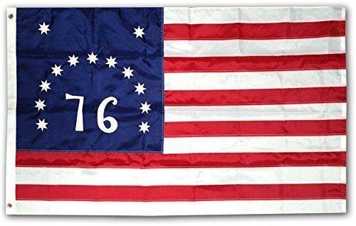 3x5 Embroidered Bennington 76 Flag 1776 220D Sewn Nylon Flag