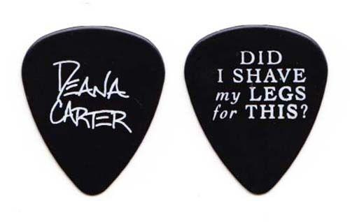 Deana Carter Signature Black Guitar Pick - 1996 DISMLFT? Tour