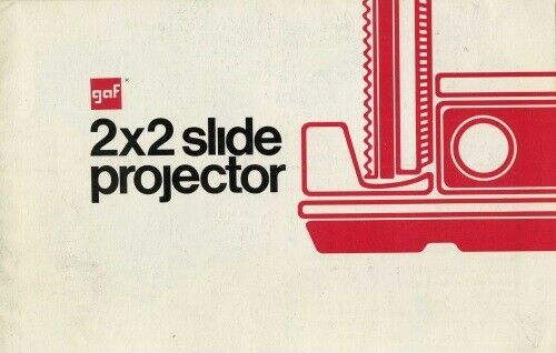 GAF 2x2 Slide Projector Models 2670 2680 2690 Instruction Manual