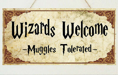 Wizards Welcome Plaque Sign Gift - Harry Potter Room House Present](Welcome Gift)