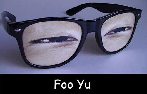 """Foo Yu"" - Unique Novelty Sunglasses with Eyes from WeyesEyes.com"