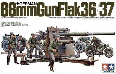 Tamiya 35017 WW2 German 88mm Gun Flak 36/37 military model kit 1/35 Scale