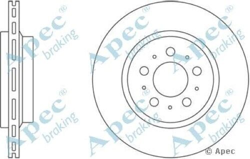 1x OE Quality Replacement Rear Axle Apec Vented Brake Disc 5 Stud 308mm - Single
