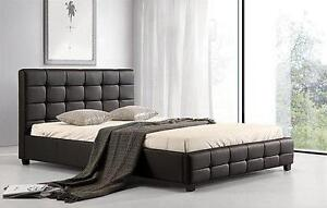 HOLIDAY SPECIALS ON NOW QUEEN SIZE MODERN FAUX LEATHER PLATFORM BED $299