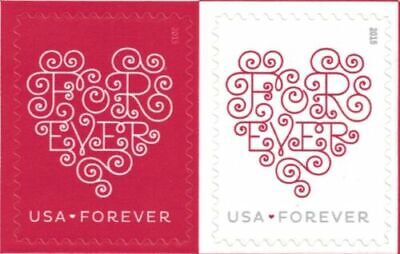 100 Love Forever Hearts (2015) - 5 Sheets of 20 Stamps MNH