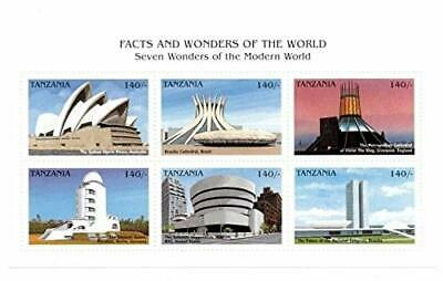 VINTAGE CLASSICS - Tanzania 9732 Modern World Wonders - Set Of 6 Stamps - MNH