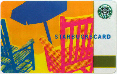 STARBUCKS - BLUE UMBRELLA - Gift Card Collectible 2006 NO Value RARE !!!