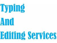 Typing and Editing Services - Data Entry, Essay Research and Typing, Book Typing, Proofreading