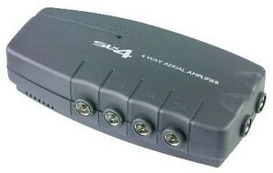 4 WAY TV aerial splitter amplifier freeview distribution booster box FM DAB 3