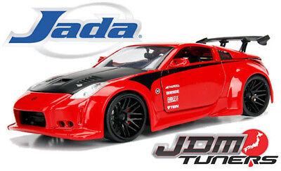 JADA 1/24 METALS JDM TUNERS 2003 NISSAN 350Z DIECAST CAR MODEL 99112-DP1 RED