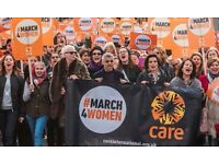 #March 4 Women - 4 March 2018- Volunteers needed! Central London for CARE International UK