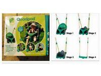 New in box QUADPOD x4 in 1 swing seat
