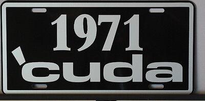 - METAL LICENSE PLATE 1971 CUDA PLYMOUTH E BODY MOPAR 340 383 440 HEMI SIX PACK