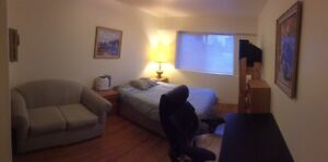 Large Furnished,  bedroom in Quiet 2-Bdm Shared Apt (Marpole)