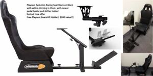 Playseat Evolution Racing Seat Black w new pedal free shifter