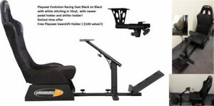 Playseat Evolution Racing Seat Black w new pedal free shifter b