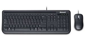 Microsoft Wired Desktop 400 for Business Keyboard & Mouse - English - USB - Black
