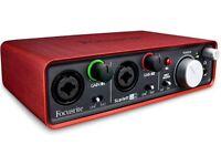 Focuseite 2i2 second generation audio interface