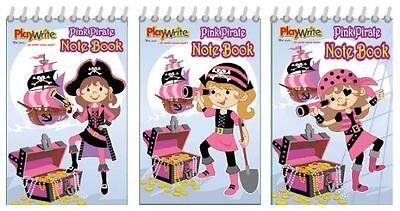 Wholesale Job Lot 360 Pink Pirate Notebooks *Boys *Girls *Kids *Toys
