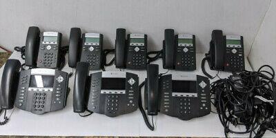 Lot 8 Polycom Soundpoint Ip Phones W Power Supply- Ip670 - Ip321 - Ip331 P1.c