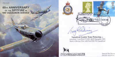 CC53b WWII WW2 RAF cover signed Battle of Britain pilot WILKINSON