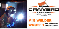 PRODUCTION MIG WELDER WANTED