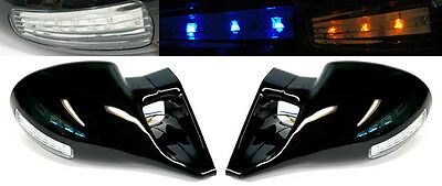 Chevy S10 Blazer GMC Jimmy Sonoma M3 LED Front Manual Door Side Mirrors Pair