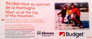 Full day ski lift vouchers Les sommets