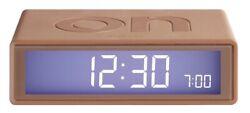 Lexon Flip LCD Alarm Clock Travel LR130MC Colour Copper - Operation by Turn