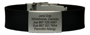 Emergency/Medical ID bracelet - great for outdoor activities
