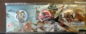 "Battleborn 1"" Buttons x 3 - never opened or removed"