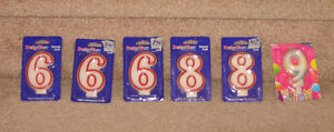 New Birthday Candles - 6, 8, 9 / New Birthday Napkins 30, 40, 50