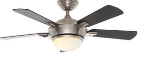 Ceiling fan/light with remote control