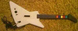 White Wired Guitar Hero Guitar