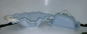 Vintage Falcon ware Pottery cheese tray and Dish