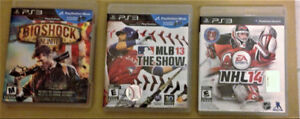 PlayStation 3 Games in Like-New Condition. Smoke-free home.