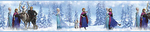 DISNEY FROZEN Princess Wallpaper Border 15' Peel & Stick Anna Elsa Olaf Sven
