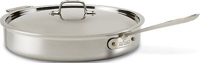 All Clad Stainless Steel Oven Safe - All-Clad 4406 Stainless Steel Tri-Ply Dishwasher Safe 6-qt Saute Pan with Lid