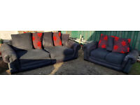 4 and 2 seater sofas-grey/brown