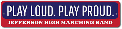 Play Music Sign  Loud   Proud Band Sign  Band Member  Metal Sign Ensa1002569