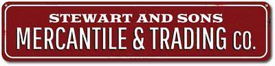 Mercantile & Trading Co, Sign, Personalized Company Store Sign ENSA1001947 ()