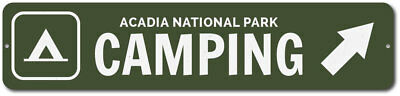 Camping Sign, Custom Camper Tent Arrow National Park Location Name ENSA1002324
