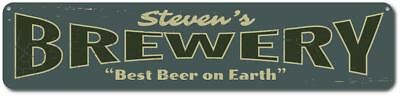 Brewery Sign, Personalized Best Beer On Earth Sign, Custom Home -